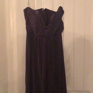 Lapise Purple long dress David's Bridal